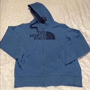 The North Face full zip up hoodie